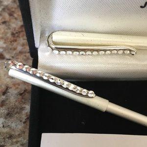 Miniature Pen And Lead Pencil Swarovski Crystals